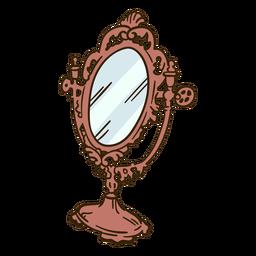 Ilustración de espejo de mesa adornado