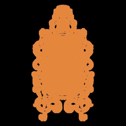 Espejo de pared adornado