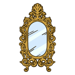 Ilustración de espejo de pared adornado