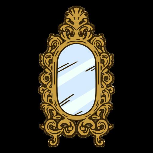 Ornate wall mirror illustration