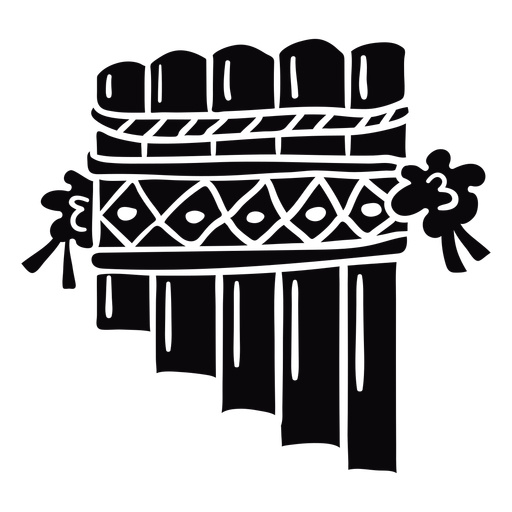 Instrumento de flauta de pan negro