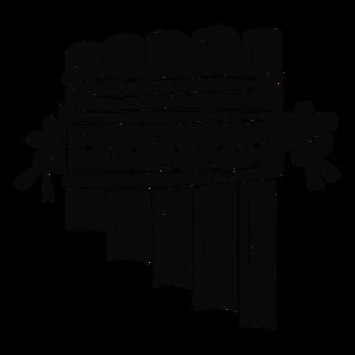 Pan flute instrument black