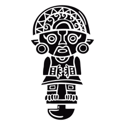 Peru inca idol black