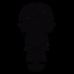 Peru inca ídolo negro