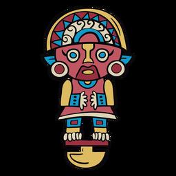 Ilustração do ídolo do Peru inca