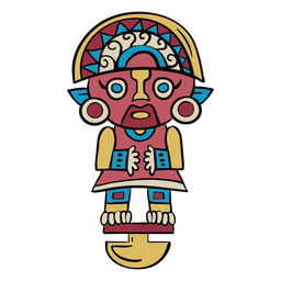 Peru inca idol illustration