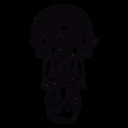 Golpe de ídolo do Peru inca
