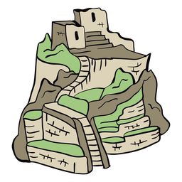 Peru machu picchu illustration
