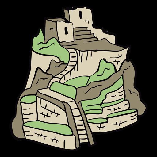 Peru machu picchu illustration