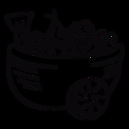 Peruvian ceviche bowl stroke