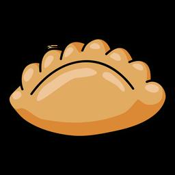Ilustración de empanada peruana