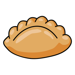 Peruvian empanada illustration