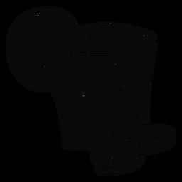Pisco peruano com limão e bebida preta