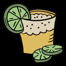 Peruvian pisco lime drink illustration