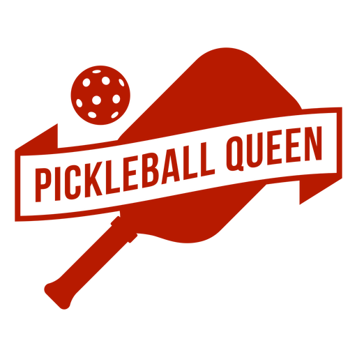 Pickleball queen badge Transparent PNG