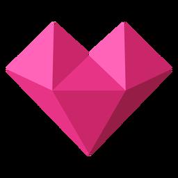 Ilustración geométrica de mosaico de corazón rosa