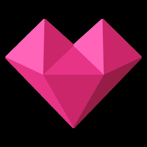 Pink heart tessellate geometric illustration