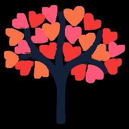 Pink heart tree flat