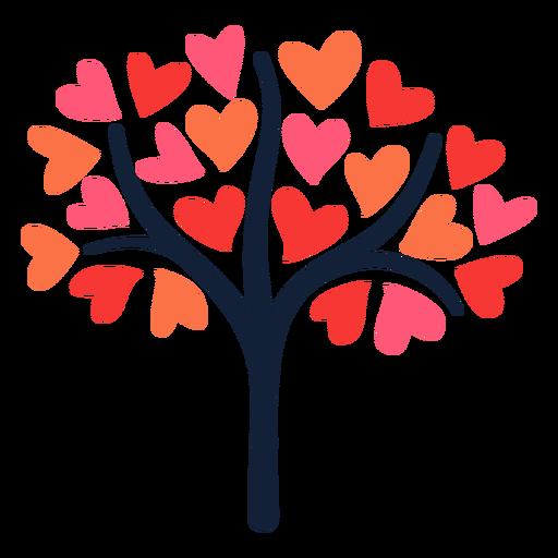 Pink heart tree flat Transparent PNG