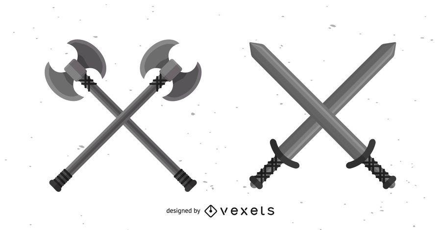 Conjunto de Design de ferramentas de guerra