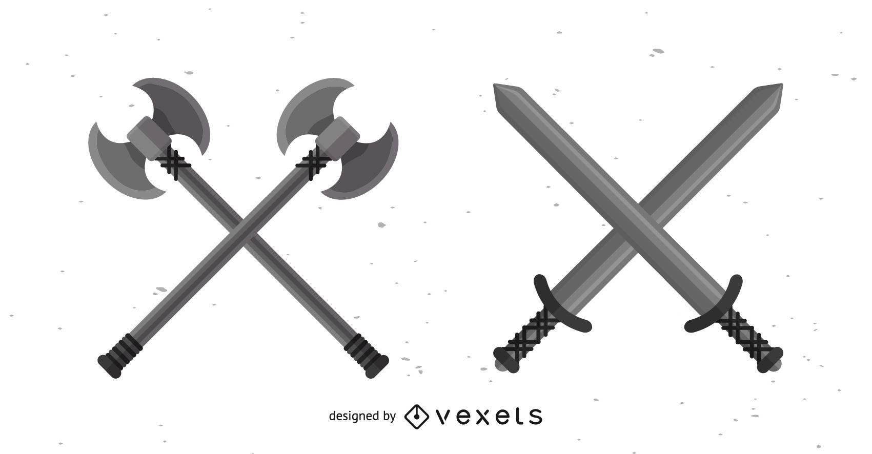 Conjunto de diseño de herramientas de guerra