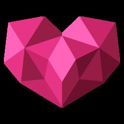Ilustração de coração geométrico em mosaico rosa