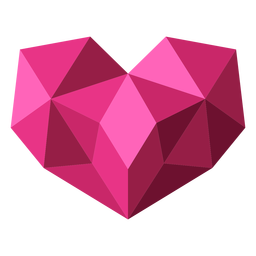 Pink tessellate geometric heart illustration