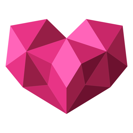 Pink tessellate geometric heart illustration Transparent PNG