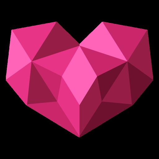 Pink tessellate geometric heart illustration