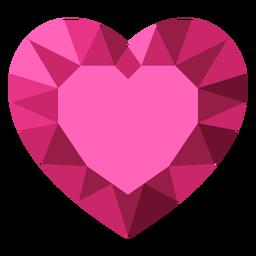 Ilustração de diamante com coração em mosaico rosa