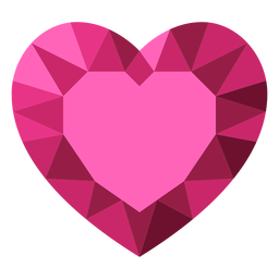 Pink tessellate heart diamond illustration