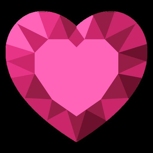 Ilustración de diamante de corazón de teselado rosa Transparent PNG