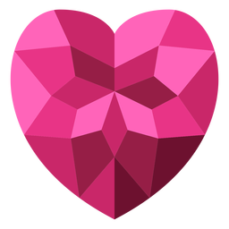Ilustração de coração em mosaico rosa