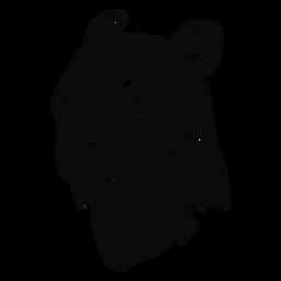 Perfil de cabeza de puma negro