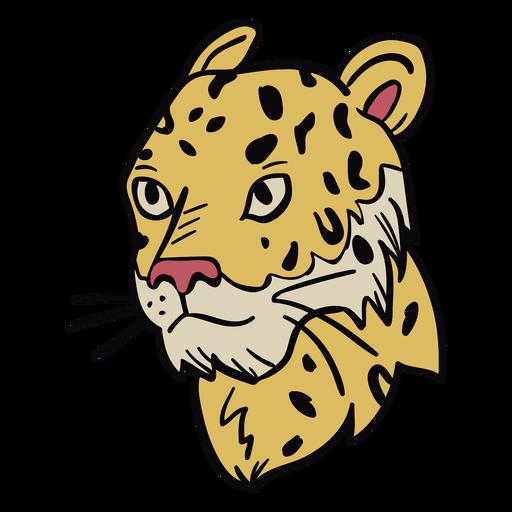 Ilustración de perfil de cabeza de Puma