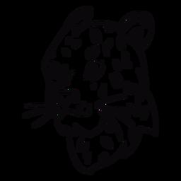 Puma head profile stroke
