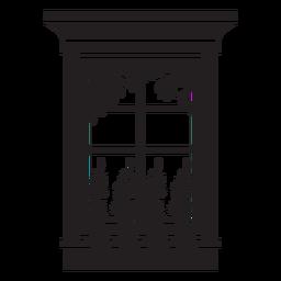 Naturaleza de ventana rectangular