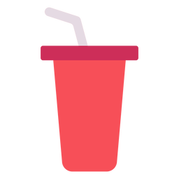 Icono plano copa roja bebida
