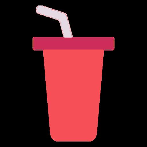 Ícone plano de bebida de copo vermelho