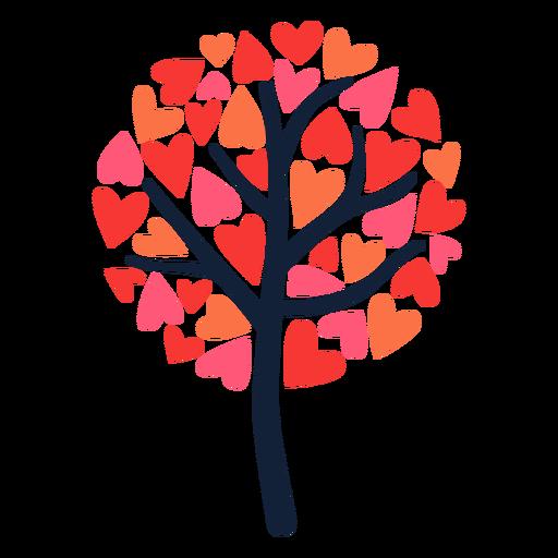 Round tree heart leaves flat