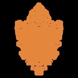 Round wall mirror ornate