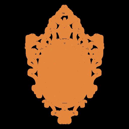 Espelho redondo de parede ornamentado