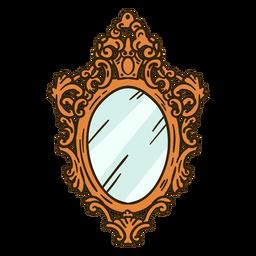Espejo de pared redondo adornado ilustración