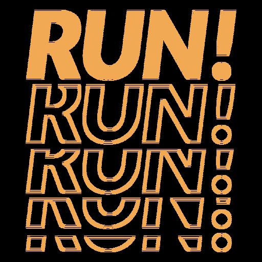 Run run run badge