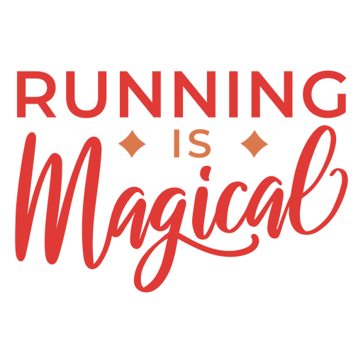 Running is magical lettering