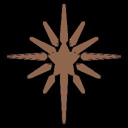 Rayos de estrella brillantes planos