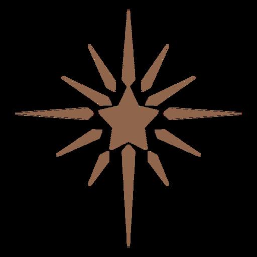 Rayos de estrella brillantes planos Transparent PNG