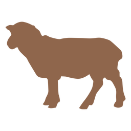 Side lamb animal silhouette