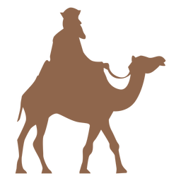 Side man riding camel silhouette