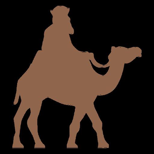 Silueta de camello de montar a caballo lateral